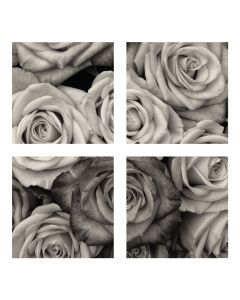 Tablou canvas 4 piese - Trandafiri - 4Decor