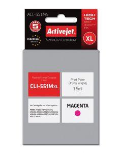 Cartus compatibil CLI-551M magenta pentru Canon, 15 ml, Premium Activejet, Garantie 5 ani