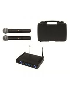 Set microfoane wireless 100 m, receiver, 2 canale, Sal