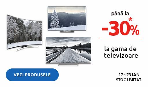 Pana la 30% reducere la gama de televizoare!
